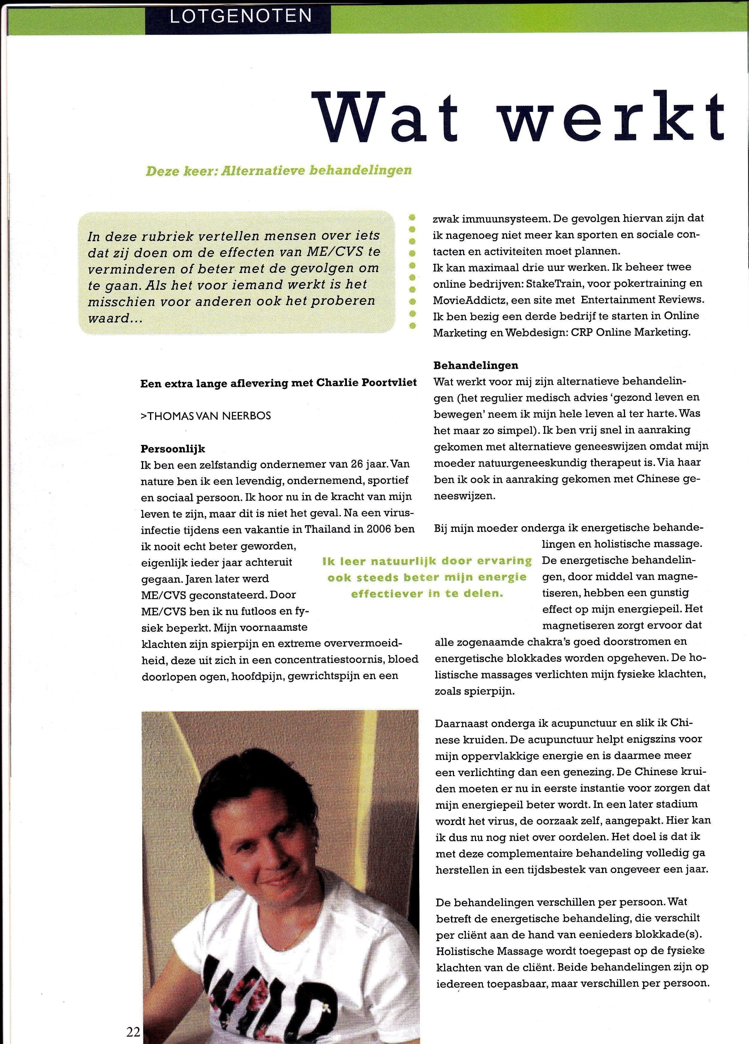 Interview voor het blad MEdium