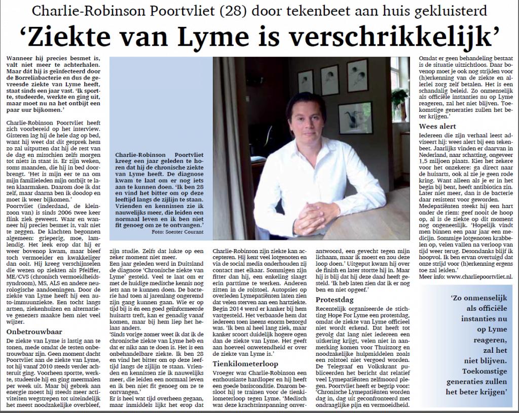 Interview voor de Soester Courant