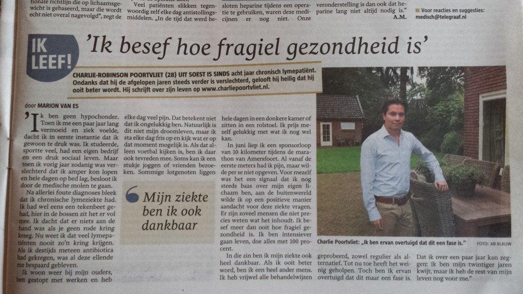 Interview Telegraaf 6 September