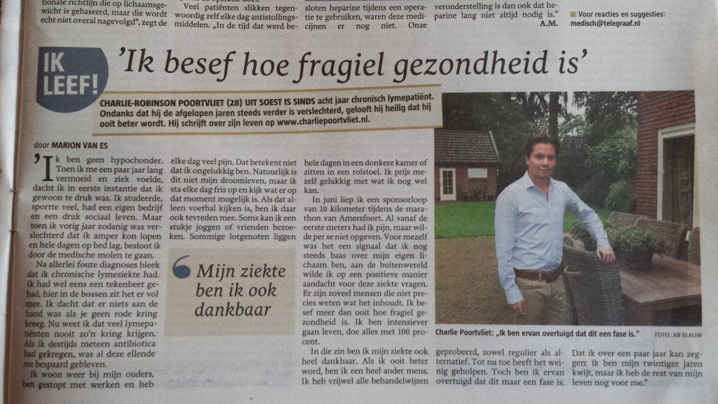 Interview Telegraaf 6 September