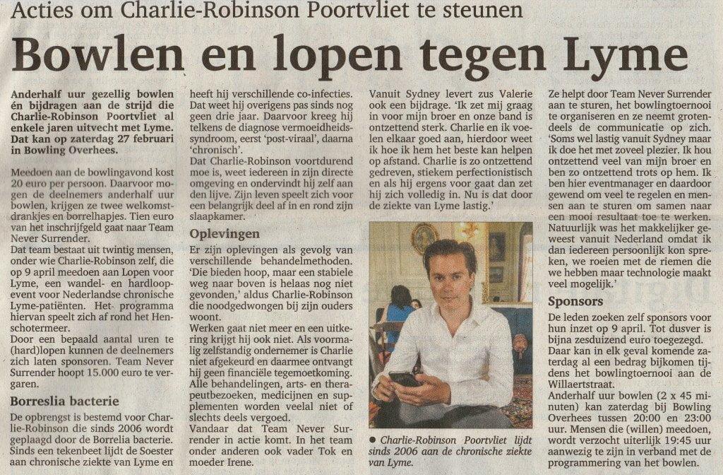 Artikel Soester Courant 24 Februari
