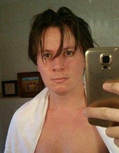 Na het bad