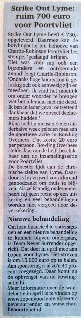Strike Out Lyme Soester Courant