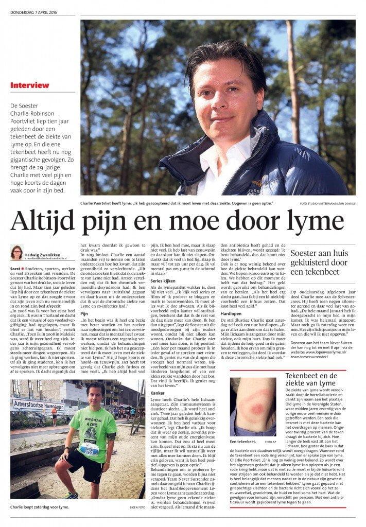 Artikel in de Gooi- en Eemlander