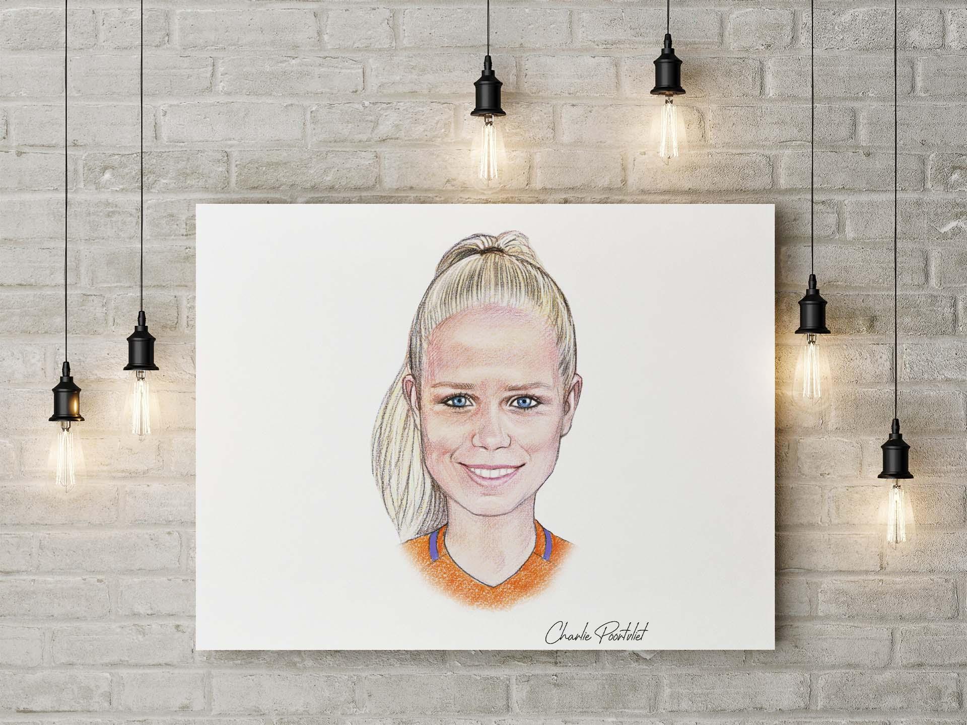 Portret Kika van Es / #5 vd Oranje Leeuwinnen