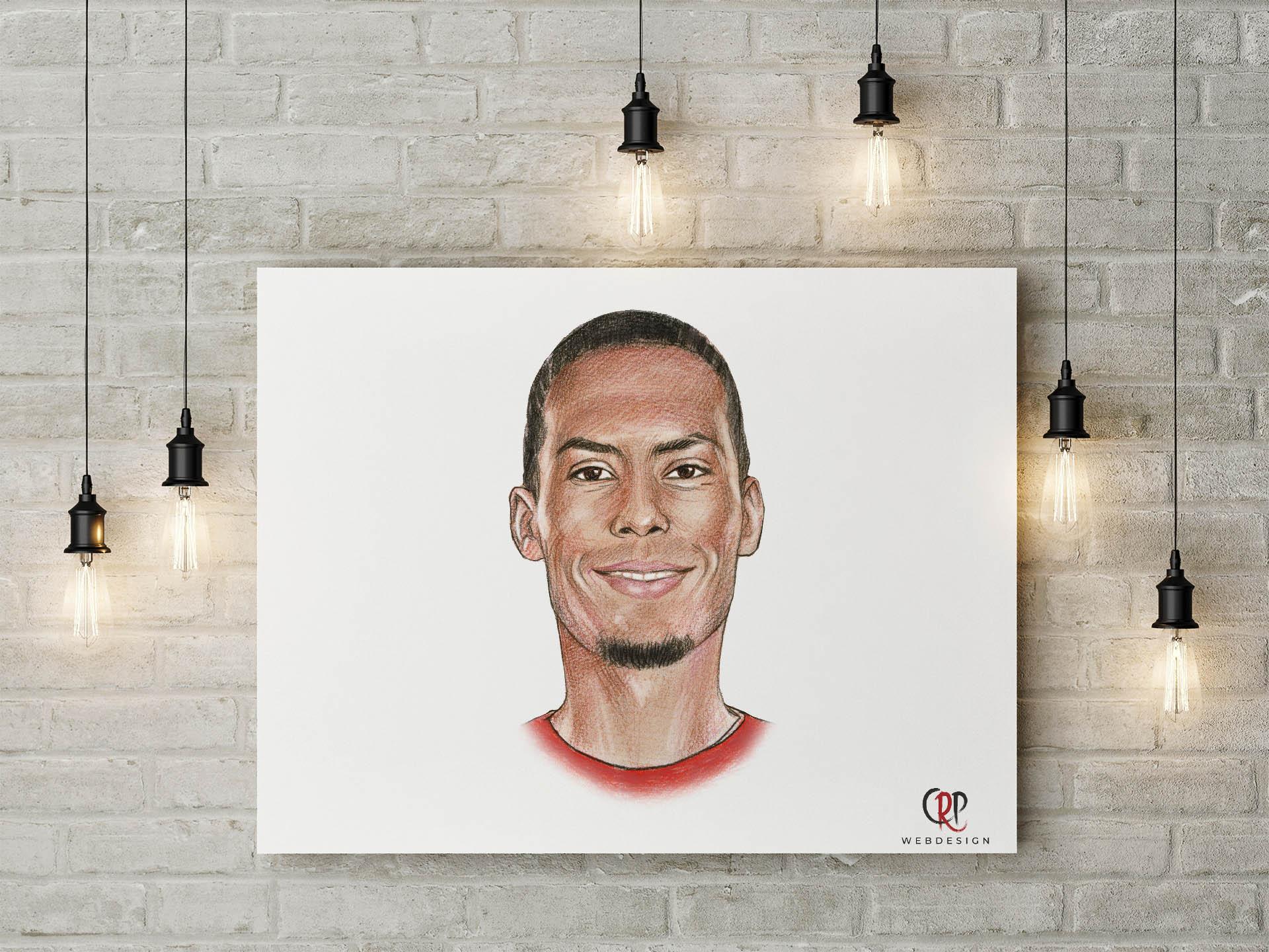 Portret Virgil van Dijk