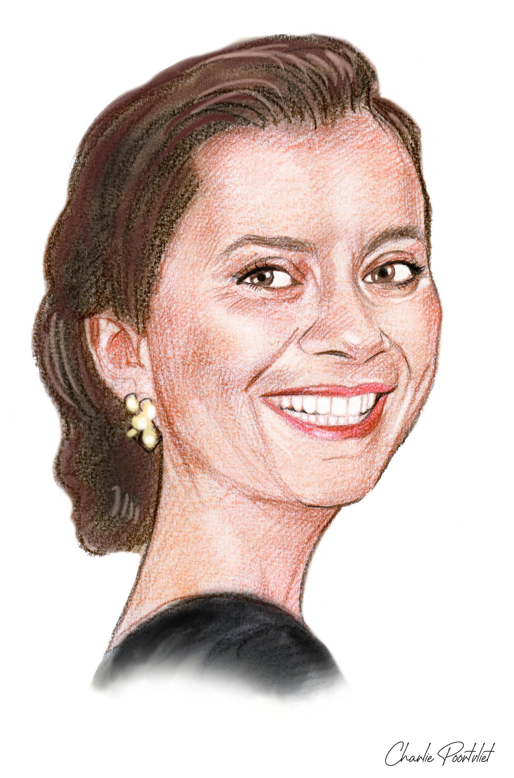 Portrettekening Irene Poortvliet