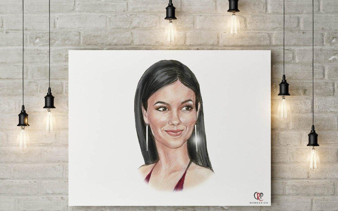 Preview Portrettekening van Victoria Justice