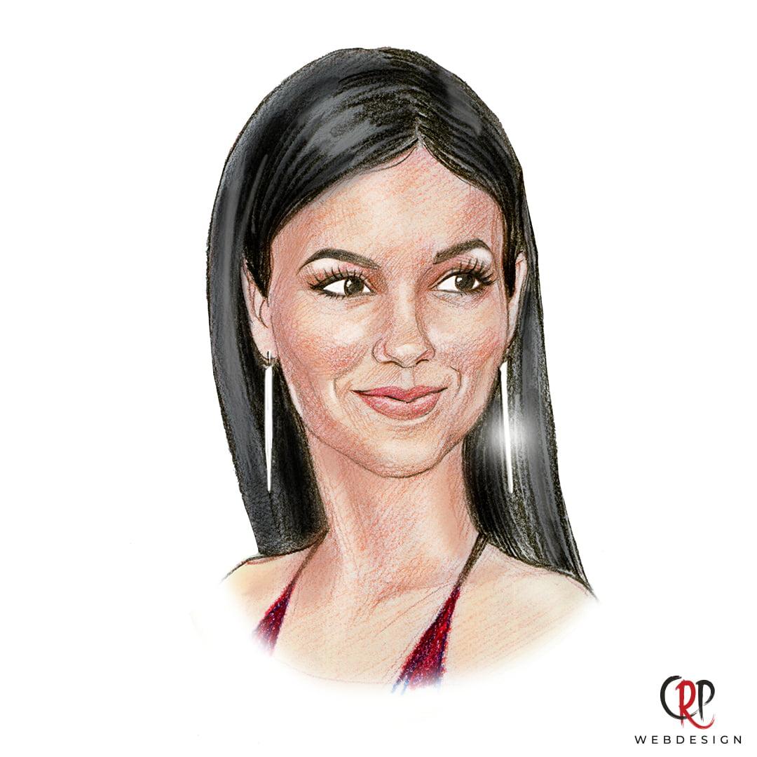 Portrettekening van Victoria Justice