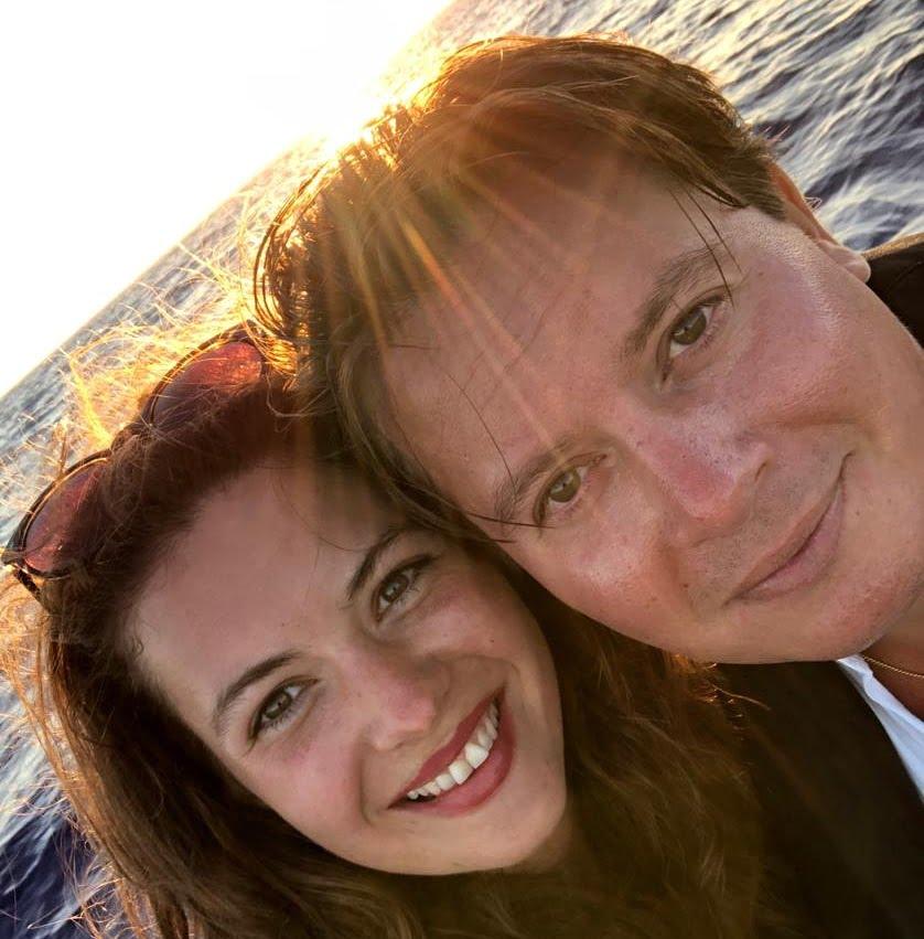 Foto Annemiek en Charlie op vakantie