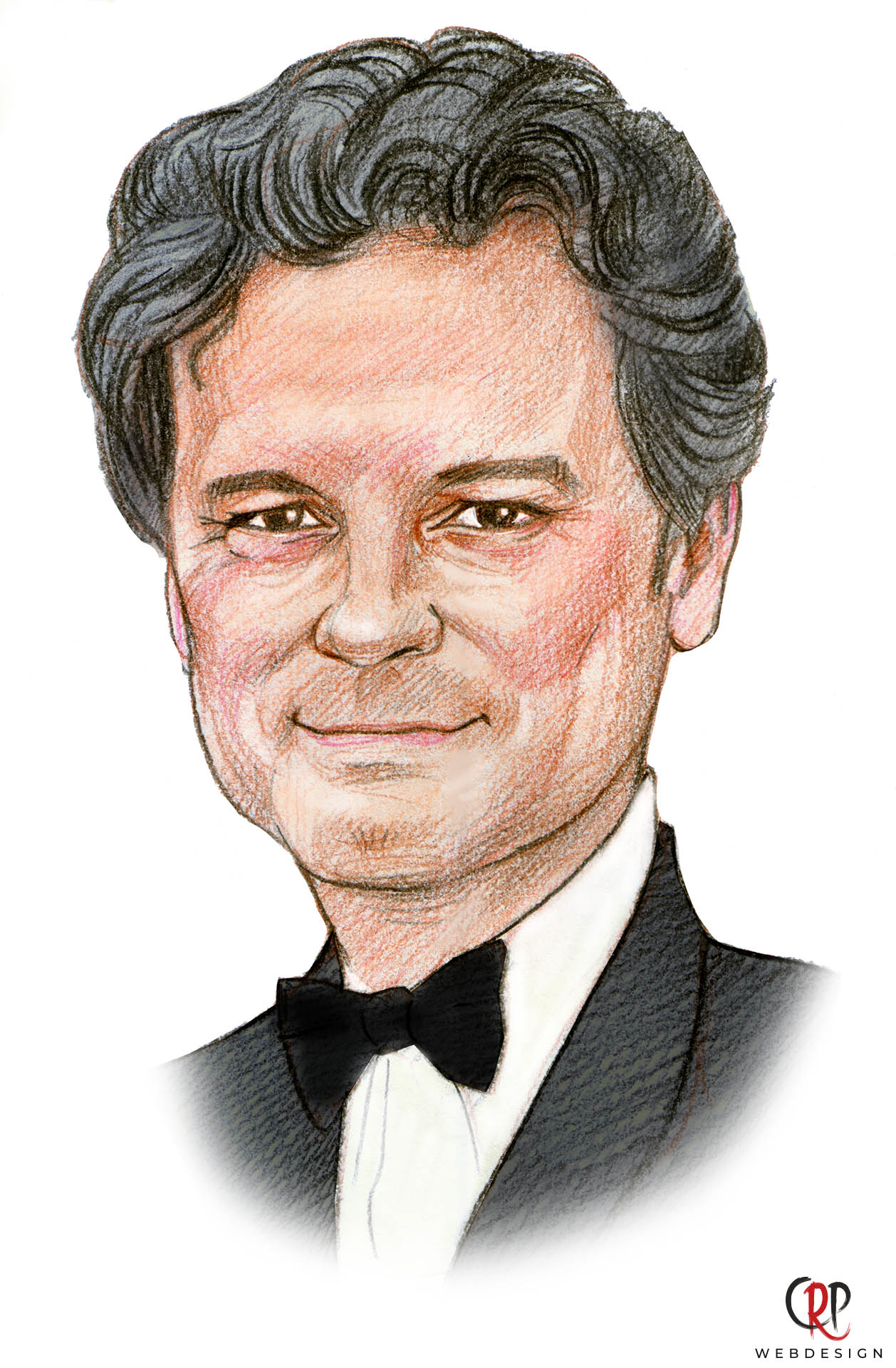 Preview portrettekening Colin Firth