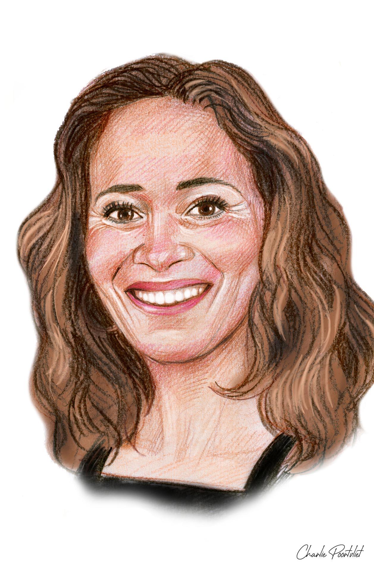 Preview portrettekening van Bibian Mentel