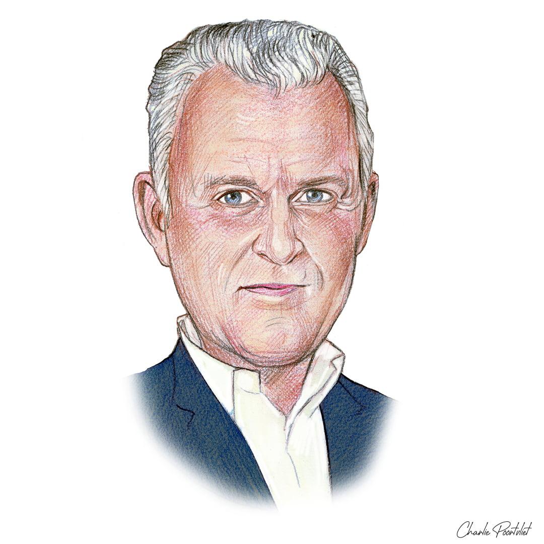 Portrettekening van Peter R. De Vries