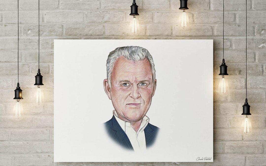 Preview portrettekening Peter R. De Vries
